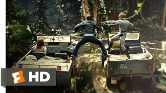 Indiana Jones and the Kingdom of the Crystal Skull (7-10) Movie CLIP - Jeep Sword Fight (2008) HD