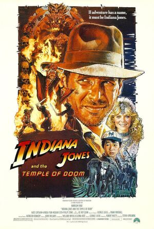 1984 Indiana Jones and the Temple of Doom poster