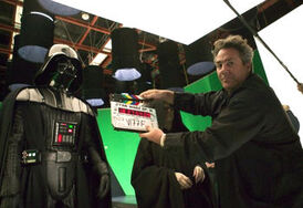 Rick McCallum behind the scenes of Revenge of the Sith