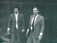 Dickey Beer with Harrison Ford on-set of Last Crusade