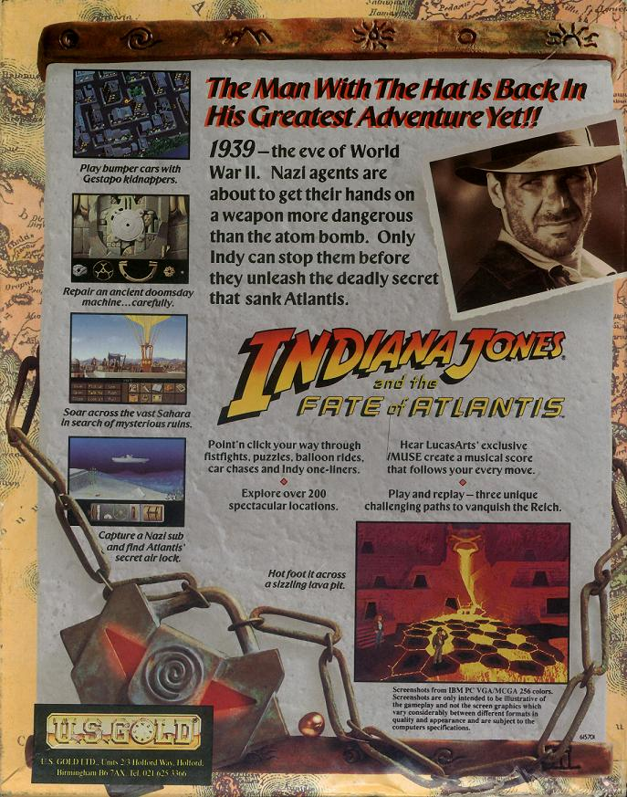 Indiana Jones and the Fate of Atlantis | Indiana Jones Wiki | FANDOM