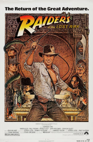 1981 Raiders of the Lost Ark Artwork by Richard Amsel 2