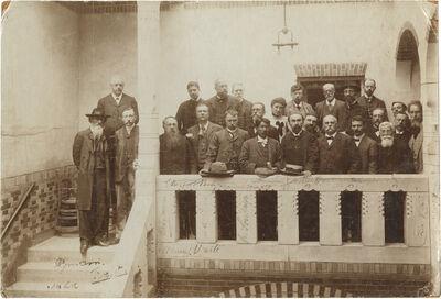 Dadabhai Navroji attending the Socialist International Meeting at Amsterdam, 1904-1