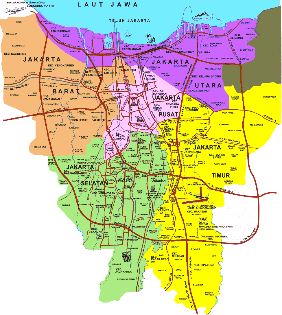 Jakarta Indonesia Map Image   Map Jakarta overall.png | Indonesia | FANDOM powered by Wikia