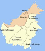 Map of Kalimantan
