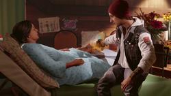 Delsin leczy nogę Betty (inFamous Second Son)