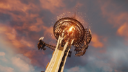 Good Delsin in Cole's Jacket performs a Comet Drop from Space Needle