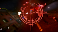 Zoom on Evil Delsin's Bloodthirsty Blades reticle
