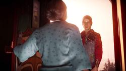 Betty przed zatrzaśnięciem drzwi przed Delsinem (inFamous Second Son)