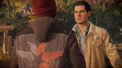 Reggie argues with Delsin