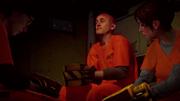 Eugene, Hank and Fetch in prison van.PNG