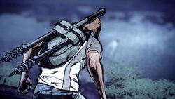 Cole obserwuje uciekającego Bertranda (inFamous 2)