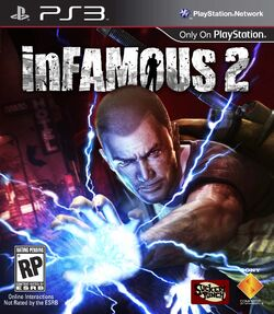InFAMOUS 2 front cover