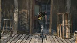 Cole przeszukuje chatę przemytników (inFamous 2)