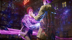 Delsin attempts to drain Fetch's powers for the first time