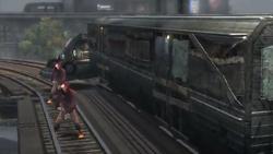 Żniwiarze patrolujący pociąg z zakładnikami (inFamous)