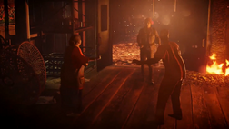 Betty, Delsin and Hank at burning longhouse.PNG