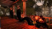 Nix utilise du Tar Grapple sur Milice (inFamous 2)