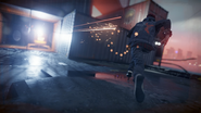 Delsin avoids turret gunfire during The Test mission