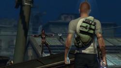 Nix przybywa z potworami na zajezdnię (inFamous 2)
