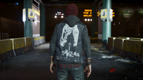Delsin wearing Fossilized vest