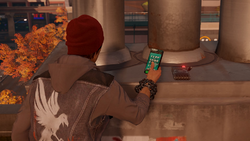 Delsin in front of Audio Log