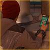 Delsin z telefonem na szablon