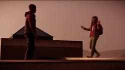 Eugene żartuje sobie z Delsina pozorując swoje samobójstwo