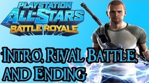 Playstation All Stars Battle Royale - Cole Intro, Rival Fight, and Ending