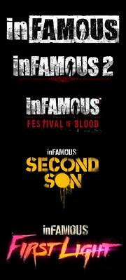 InFAMOUS series logos