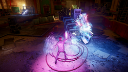 Delsin wchłania neon na parterze The Crocodile (inFamous Second Son)