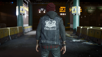 Delsin wearing The Crocodile vest