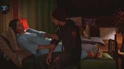 Wounded Betty praises Delsin for his actions