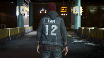 Delsin wearing 12th Fan vest