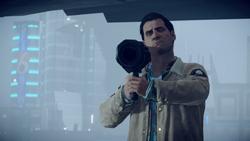 Reggie przed wystrzeleniem rakiety (inFamous Second Son)