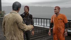 Reggie przybliża Delsinowi i Hankowi swój plan (inFamous Second Son)