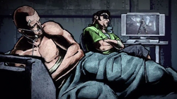 Cole obserwuje w telewizji upadek Empire City (inFamous 2)