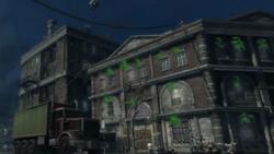 Ciężarówka odjeżdża od budynku Examiner (inFamous)