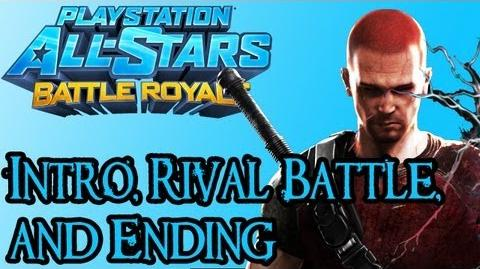 Playstation All Stars Battle Royale - Evil Cole Intro, Rival Fight, and Ending