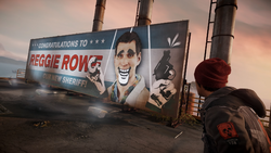 Billboard z Reggiem (inFamous Second Son)