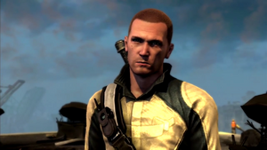 Cole in his courier jacket during Forward Momentum mission 2