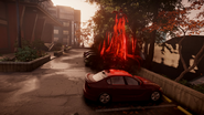 Evil Delsin performs Car Boost