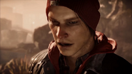 Close-up at Infamous Delsin