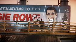 Pomalowany billboard z Reggie'em (inFamous Second Son)