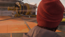 Delsin spogląda na kotew na Space Needle (inFamous Second Son)