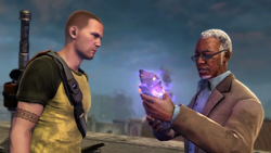 Wolfe objaśnia Cole'owi działanie rdzenia wybuchu (inFamous 2)