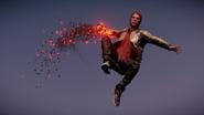 Evil Delsin in Cole's Jacket performs a Comet Drop