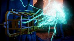 Delsin wchłania neon ze światła na arenie (inFamous Second Son)