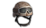 M9 Helmet Black Goggles