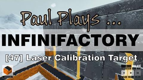 Laser calibration target
